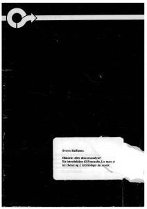 Sverre Raffnsøe - Historie eller Diskursanalyse forside